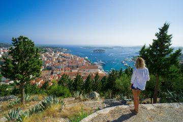 Insula Hvar de la fortareata Spanjola Croatia