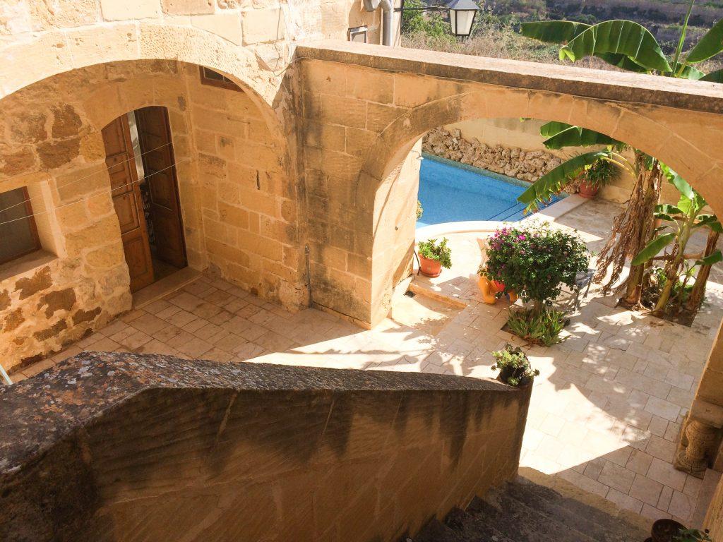 terasa vilei Gozo Malta din secolul XVIII