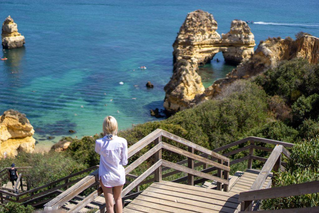 Praia do camilo Algarve Portugalia plaja scari