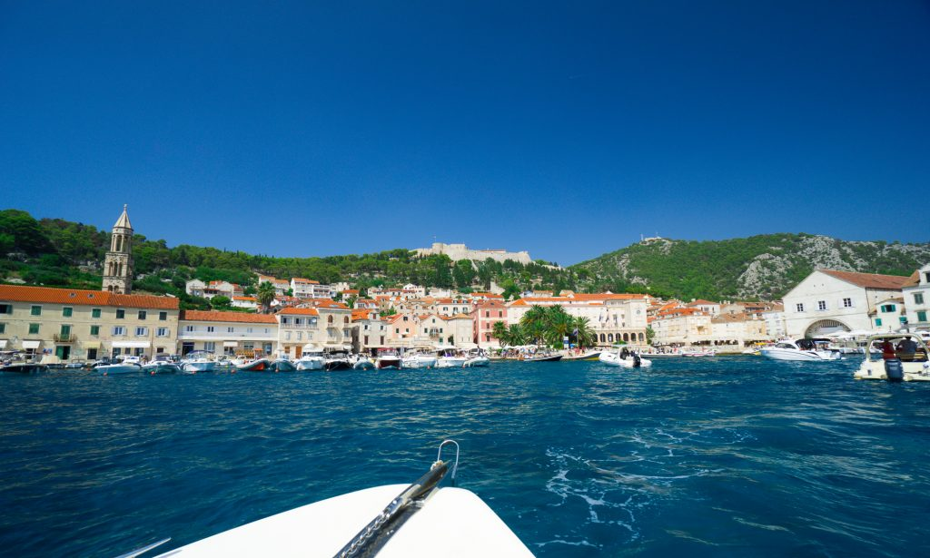 Port insula Hvar Croatia