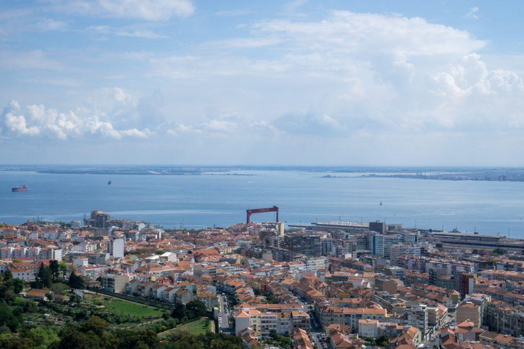 Lisabona panorama statuie Iisus Portugalia