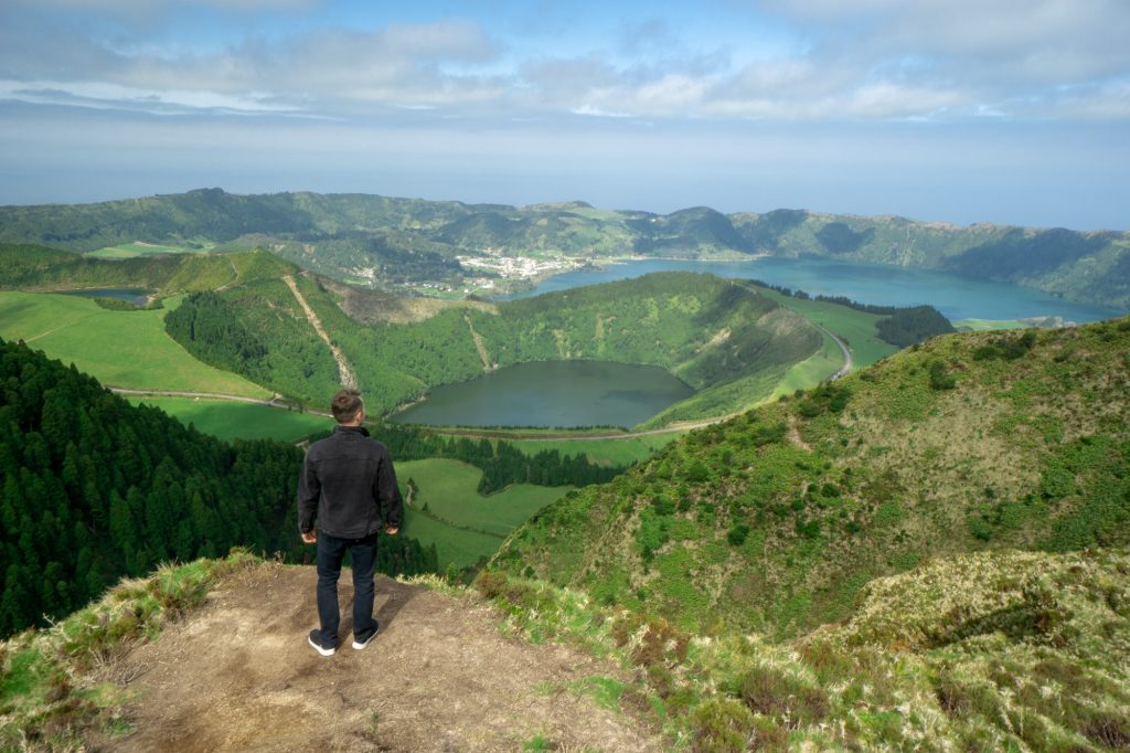 Miradouro da Boca do Inferno insula Sao Miguel Azore Portugalia