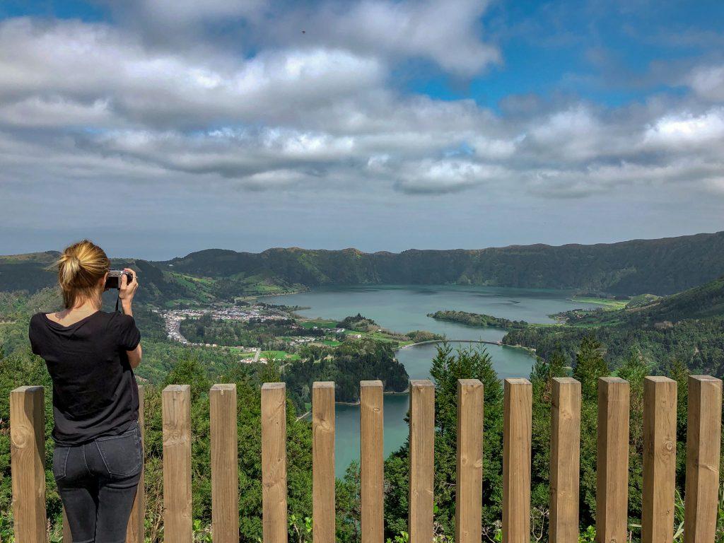 Miradouro da Vista do Rei insula Sao Miguel Azore Portgalia