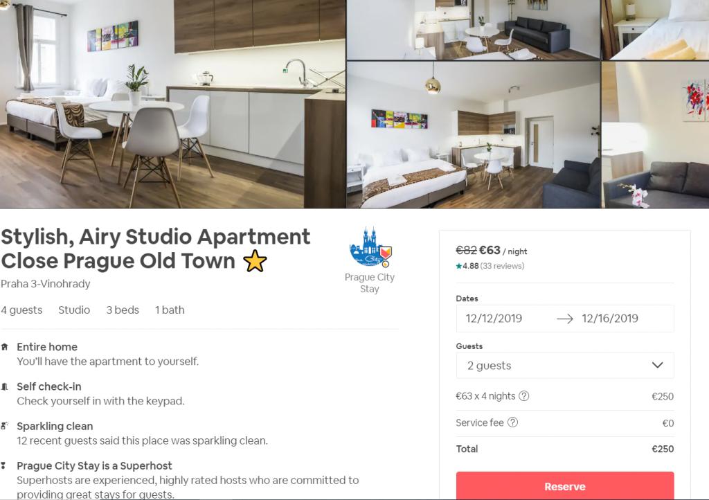 Oferta cazare apartament Airbnb Praga