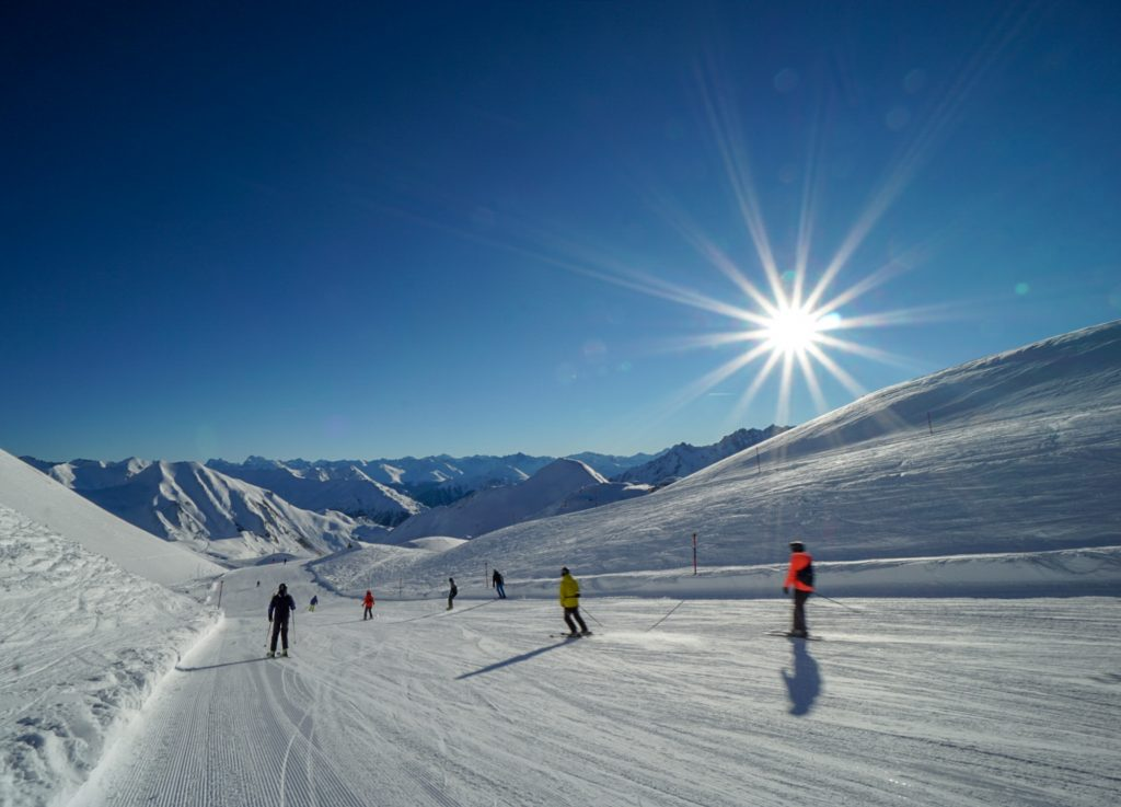 Partie ski dimineata Samnaun Elvetia