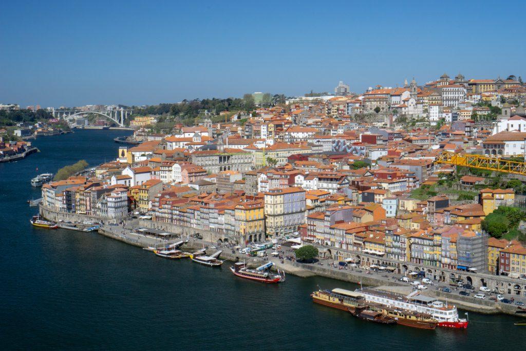 Porto Ribeira Panorama Pod Dom Luis I Porto