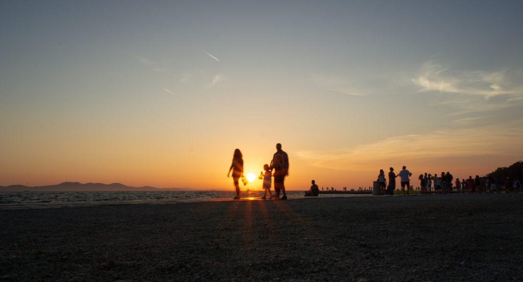 Apus de soare in Zadar Croatia