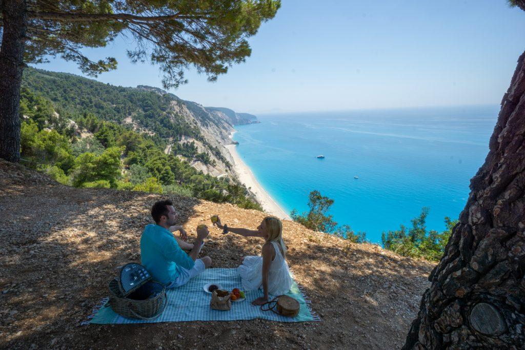 Grecia in vreme de pandemie, picnic la plaja Egremni, Lefkada