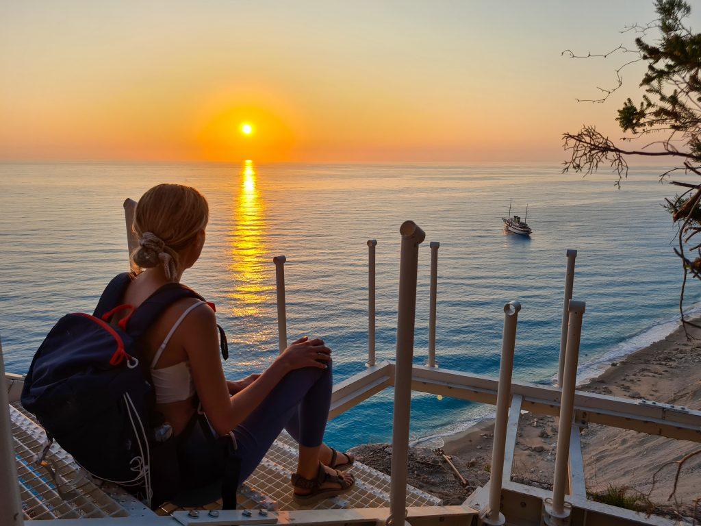 Grecia in vreme de pandemie, apus la plaja Egremni, Lefkada