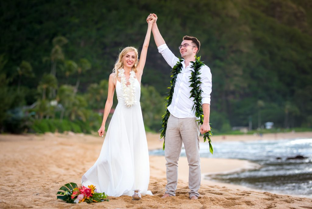 Happily married in Hawaii