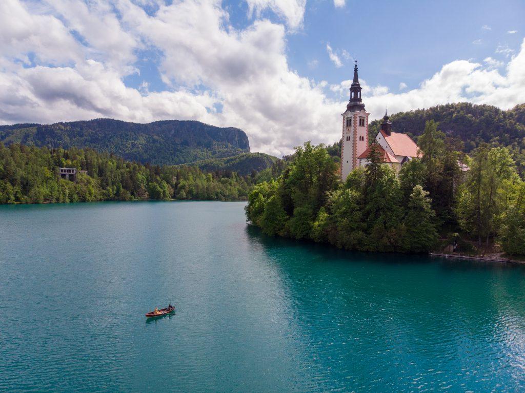 Poza din drona Bled Slovenia
